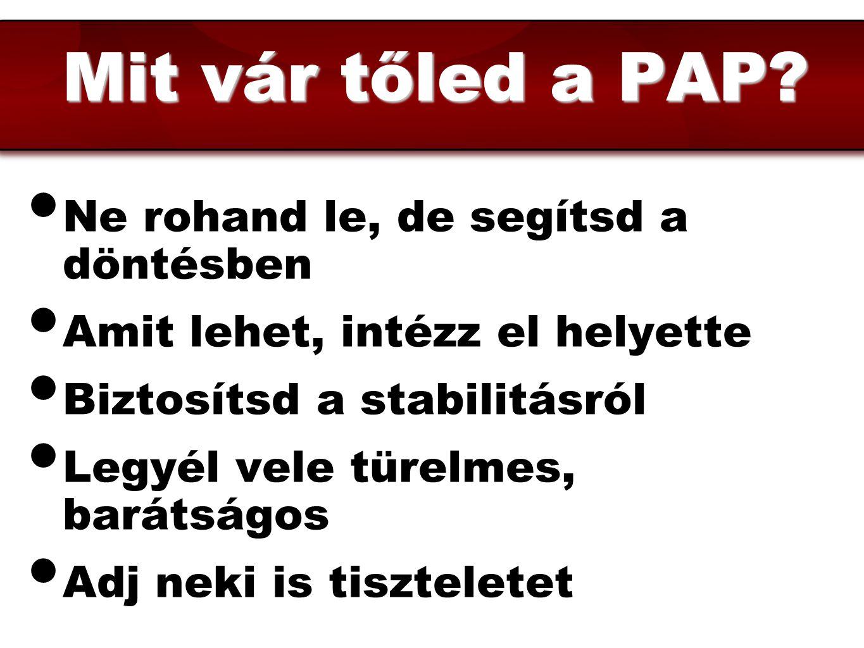 Mit vár tőled a PAP Ne rohand le, de segítsd a döntésben