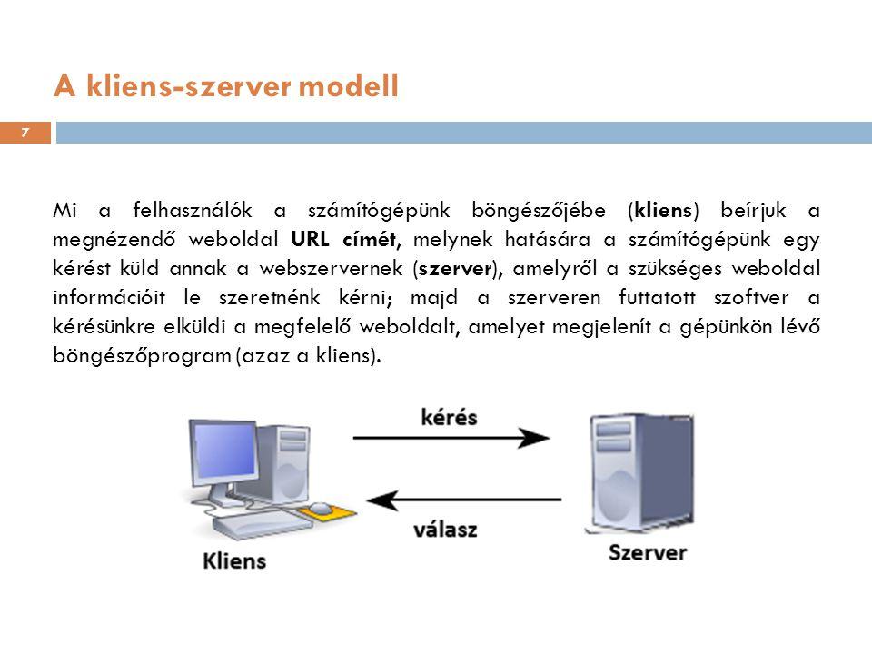 A kliens-szerver modell
