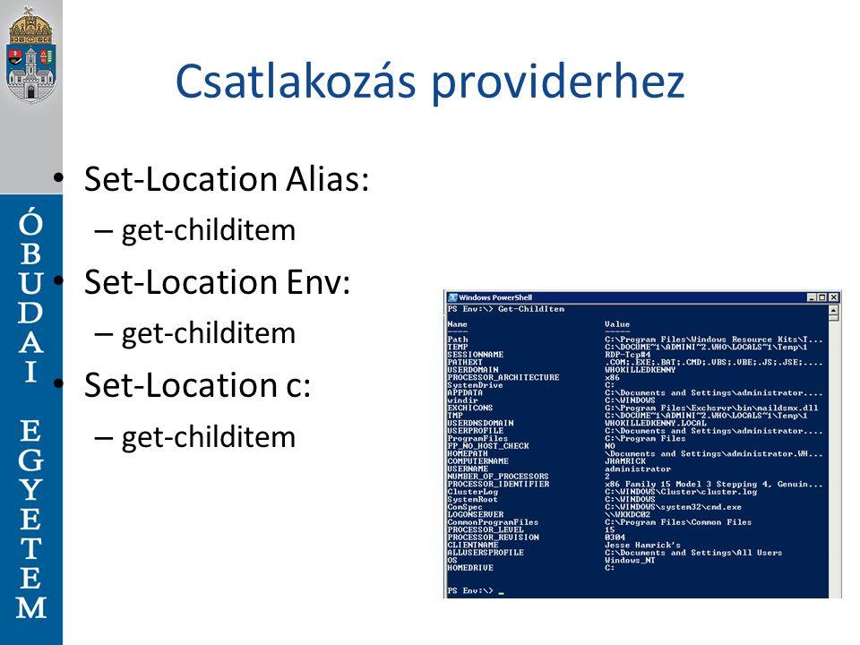 Csatlakozás providerhez