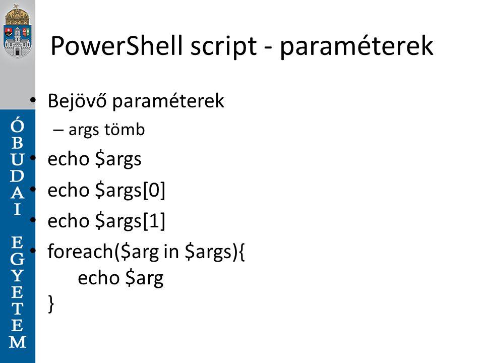 PowerShell script - paraméterek