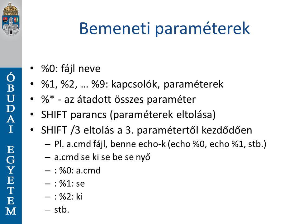 Bemeneti paraméterek %0: fájl neve