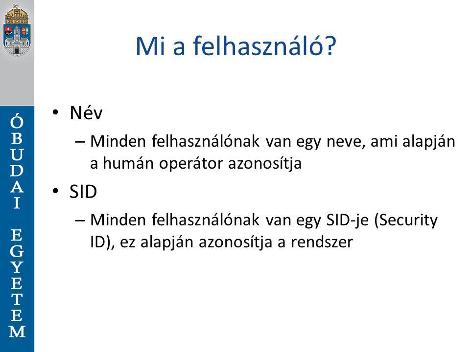 Mi a felhasználó Név SID