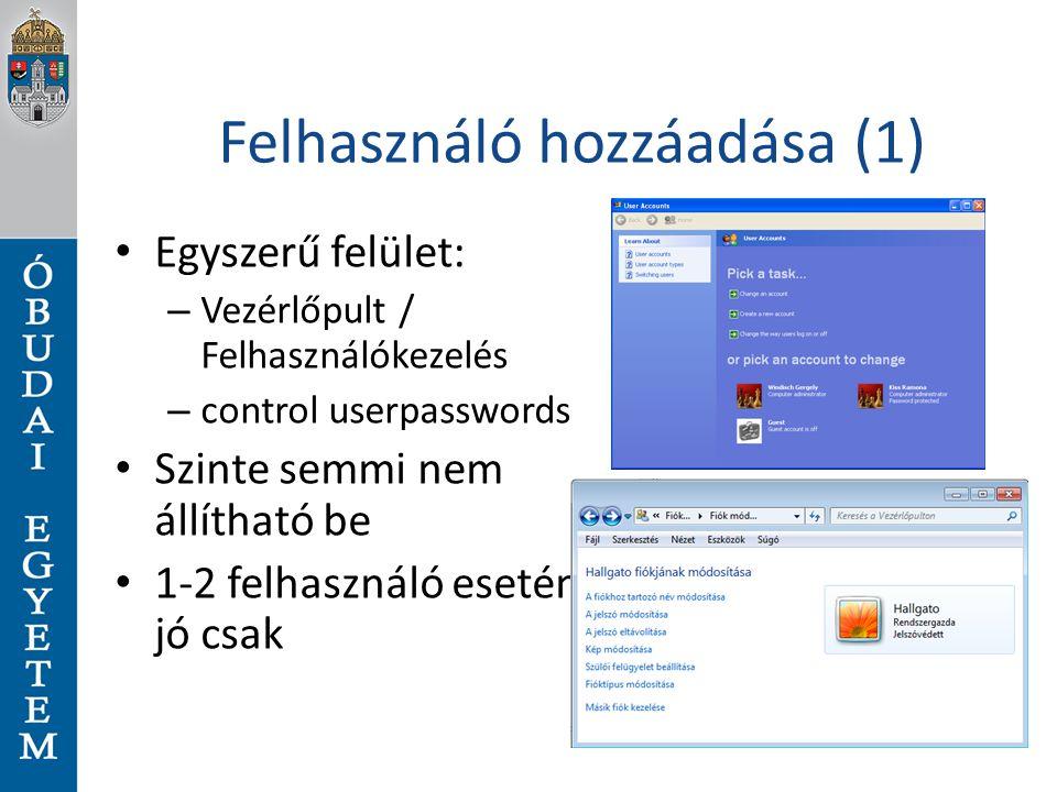 Felhasználó hozzáadása (1)