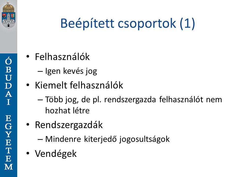 Beépített csoportok (1)