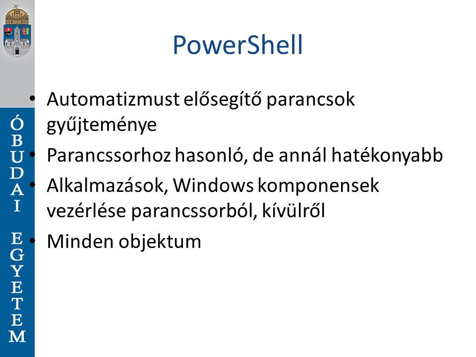 PowerShell Automatizmust elősegítő parancsok gyűjteménye
