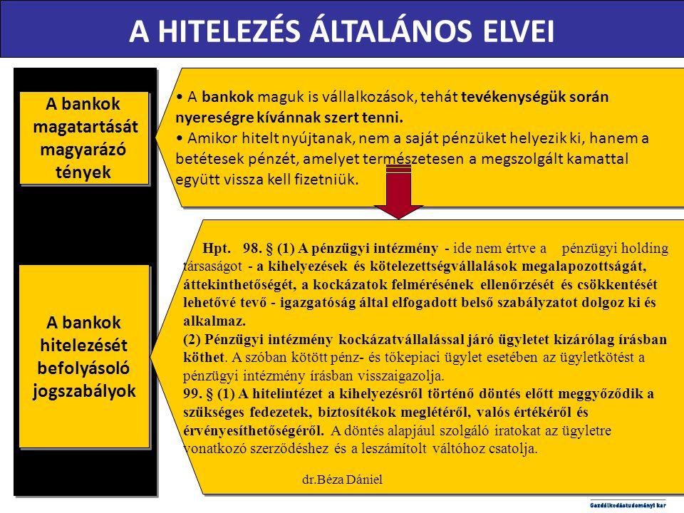 A HITELEZÉS ÁLTALÁNOS ELVEI
