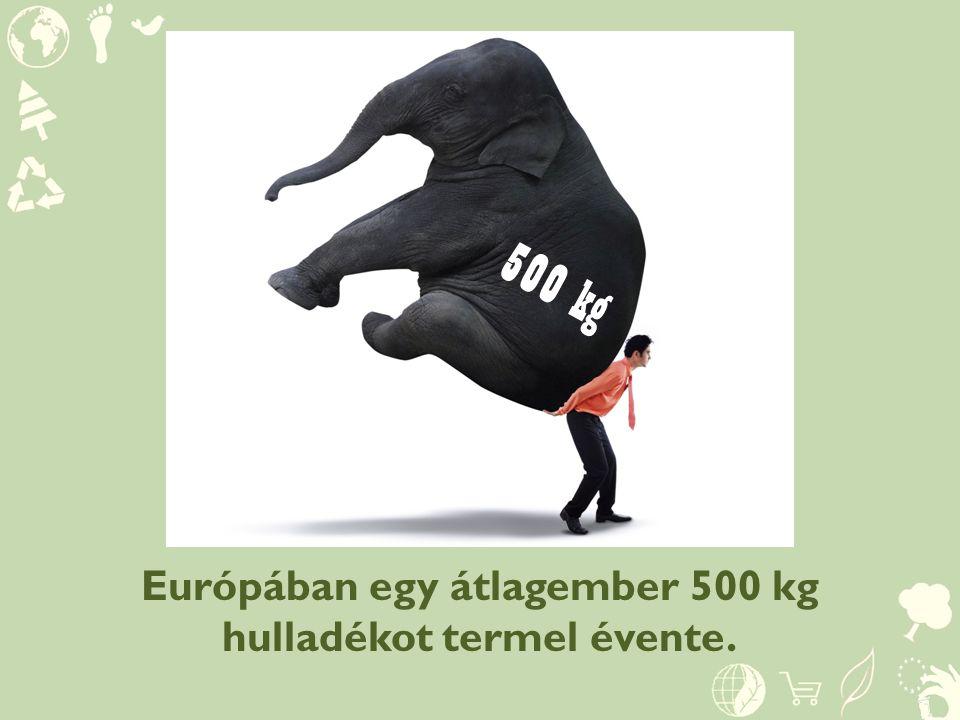 Európában egy átlagember 500 kg hulladékot termel évente.