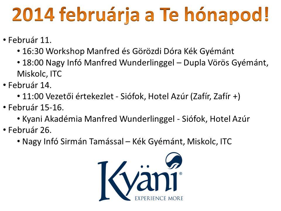 2014 februárja a Te hónapod! Február 11.