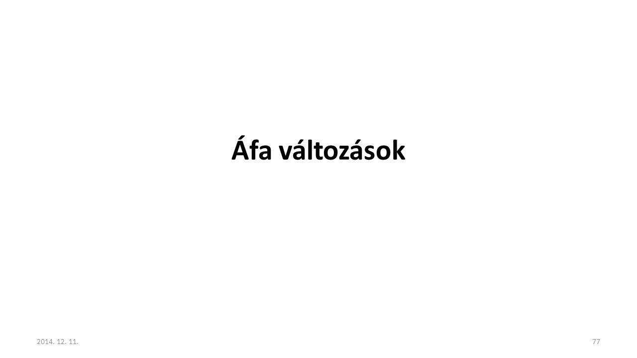 Áfa változások 2017.04.07.