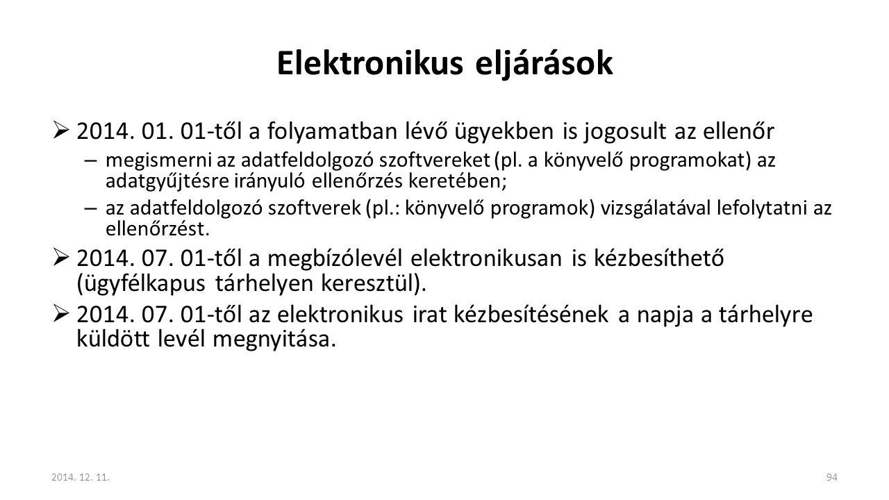 Elektronikus eljárások