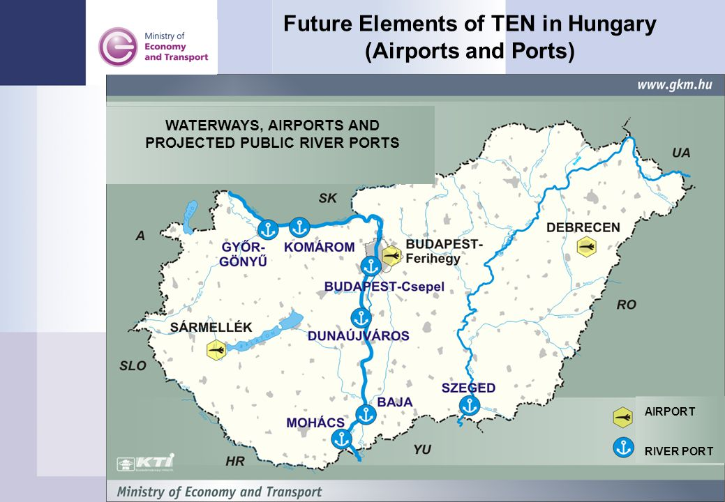 Future Elements of TEN in Hungary (Airports and Ports)