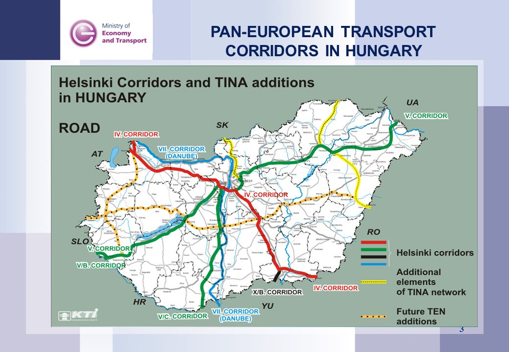 PAN-EUROPEAN TRANSPORT CORRIDORS IN HUNGARY