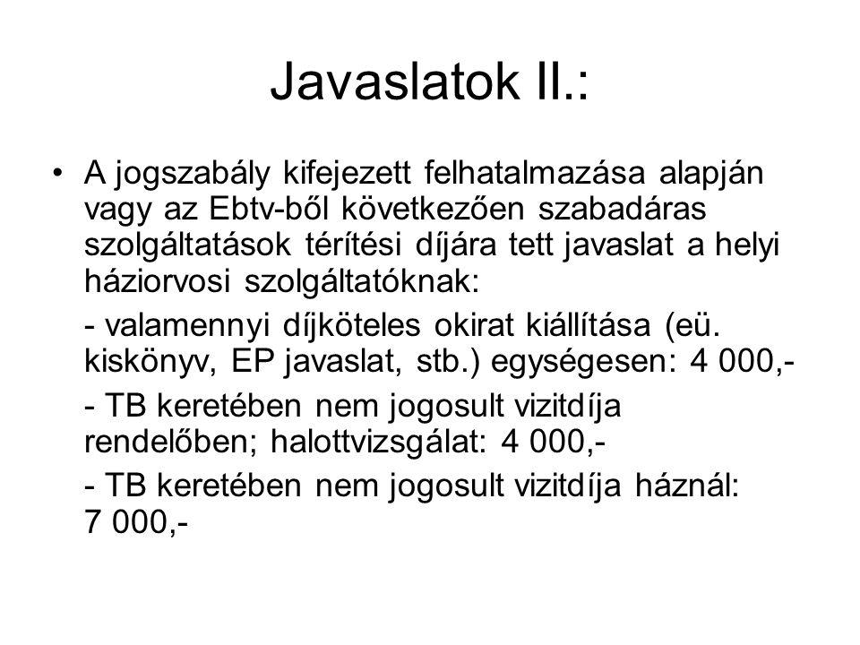 Javaslatok II.: