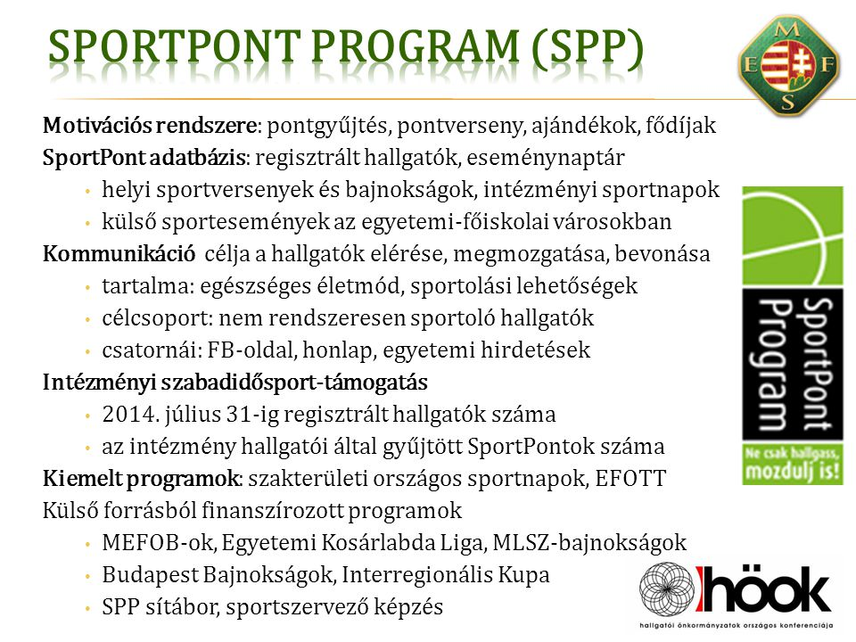 SportPont Program (SPP)