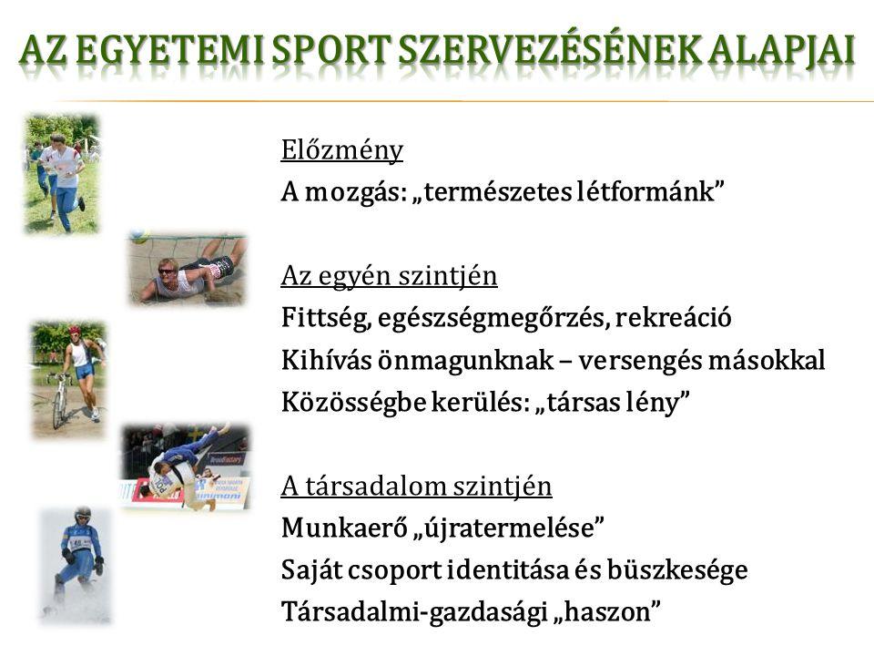 Az egyetemi sport szervezésének alapjai