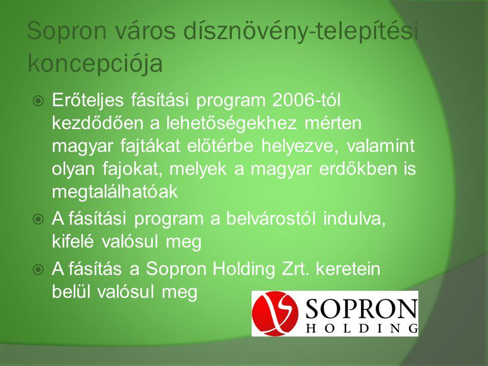 Sopron város dísznövény-telepítési koncepciója