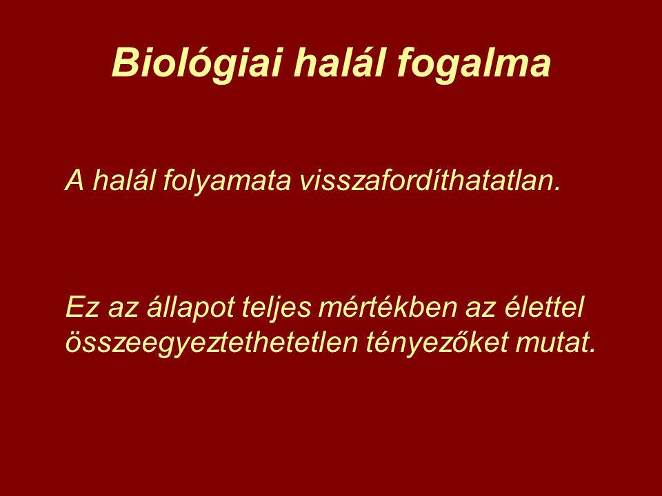 Biológiai halál fogalma