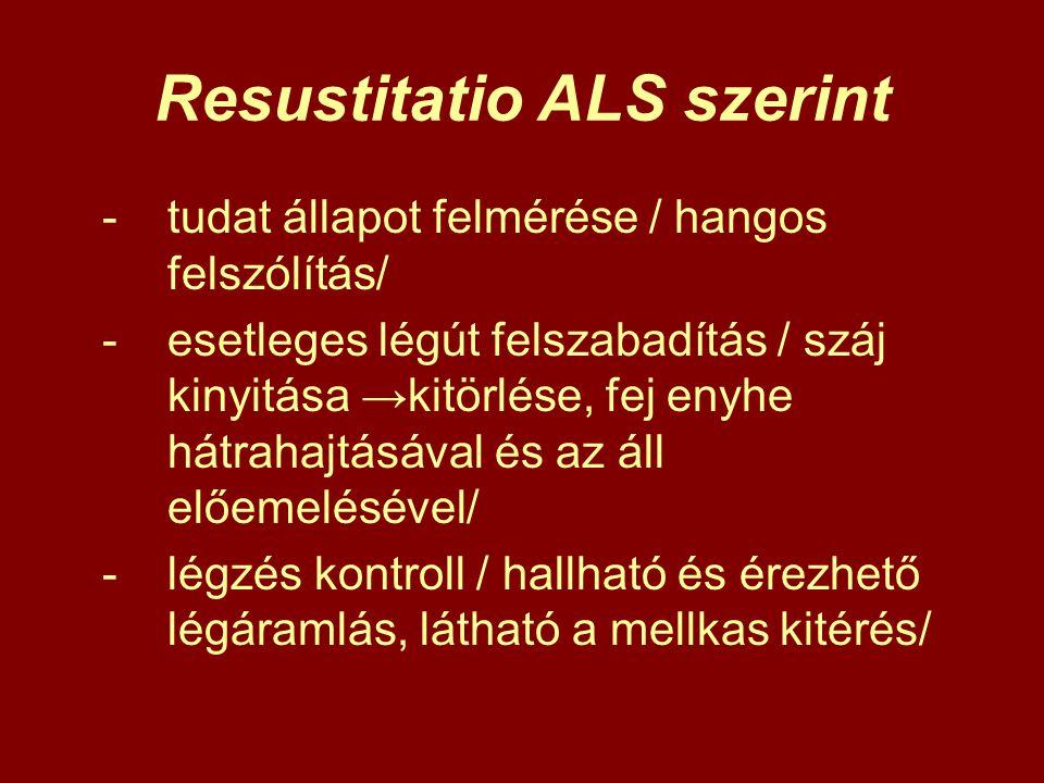 Resustitatio ALS szerint