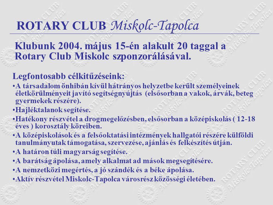 ROTARY CLUB Miskolc-Tapolca