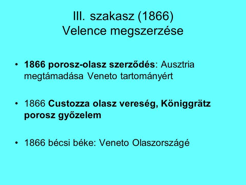 III. szakasz (1866) Velence megszerzése