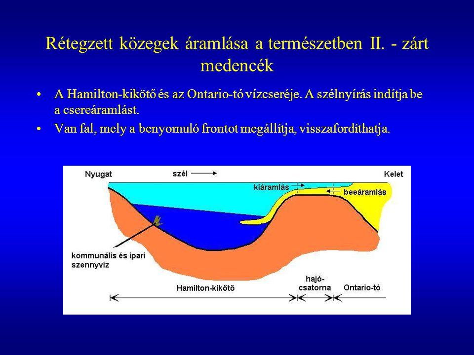 Rétegzett közegek áramlása a természetben II. - zárt medencék