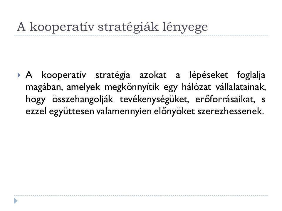 A kooperatív stratégiák lényege
