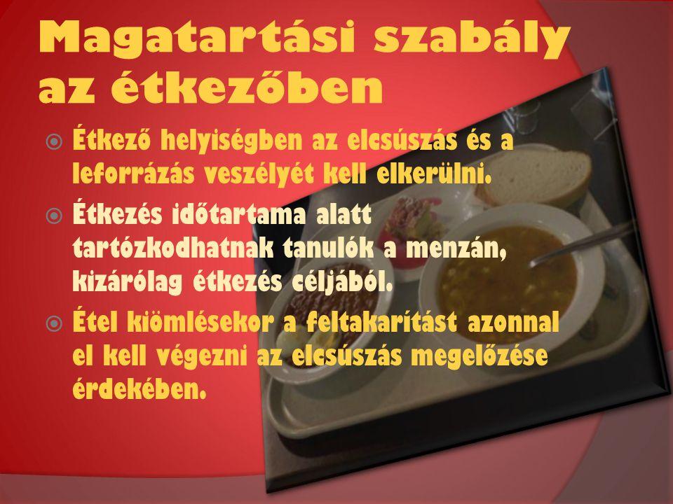 Magatartási szabály az étkezőben