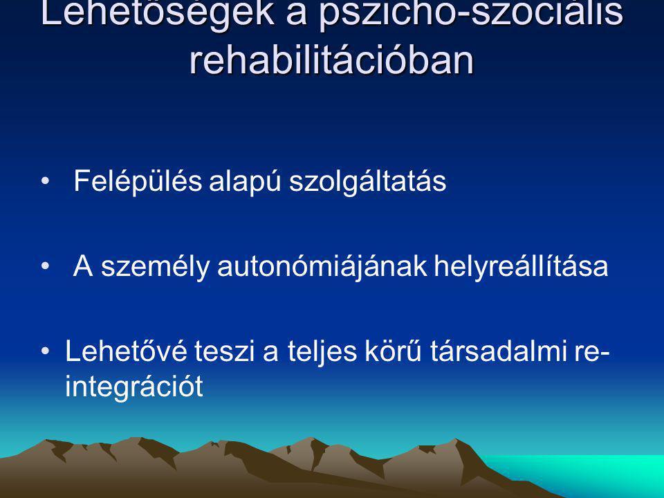 Lehetőségek a pszicho-szociális rehabilitációban