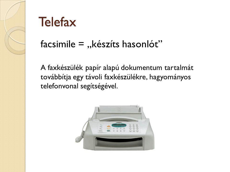 """Telefax facsimile = """"készíts hasonlót"""