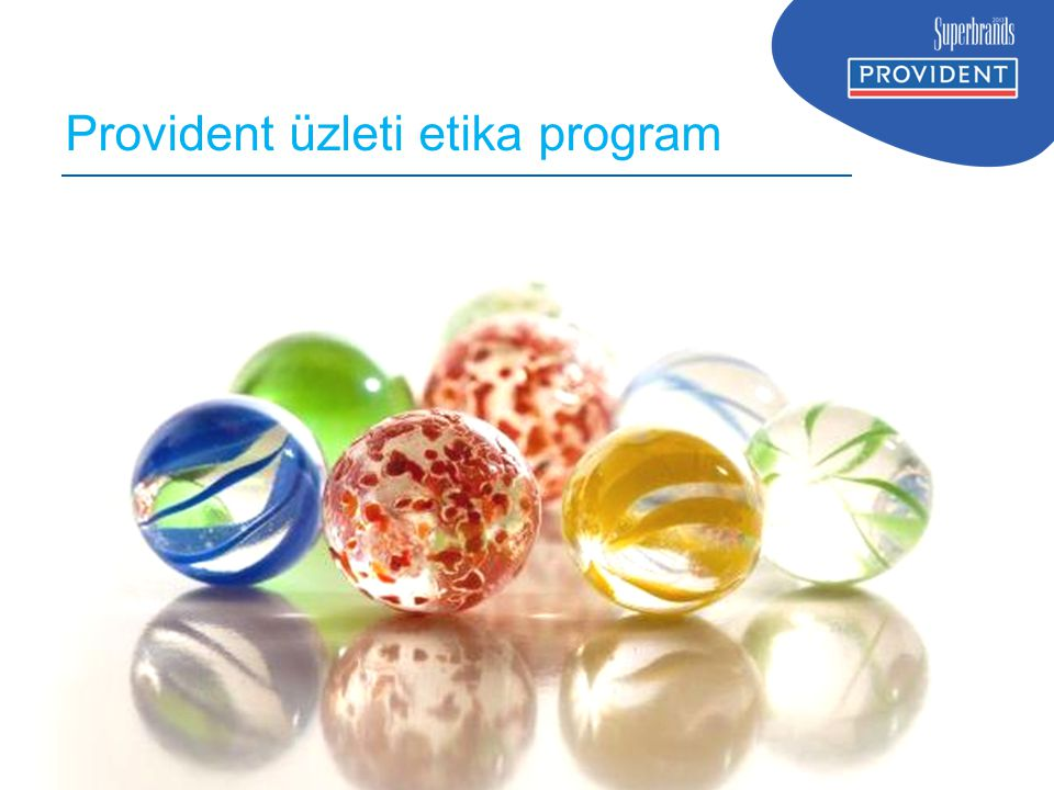 Provident üzleti etika program