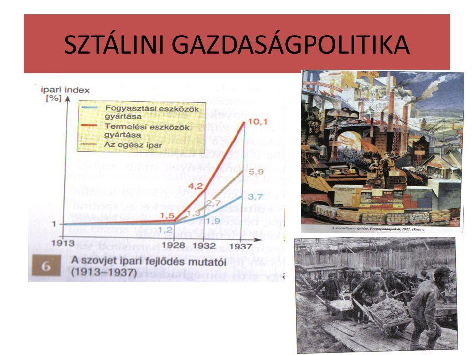 SZTÁLINI GAZDASÁGPOLITIKA