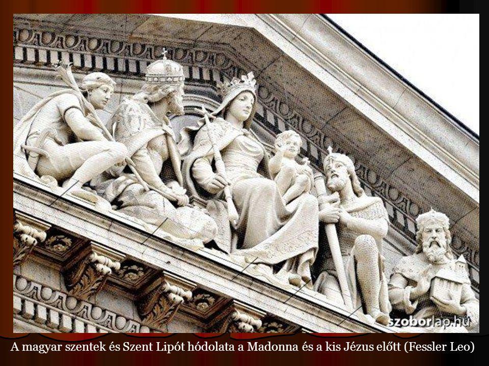A magyar szentek és Szent Lipót hódolata a Madonna és a kis Jézus előtt (Fessler Leo)