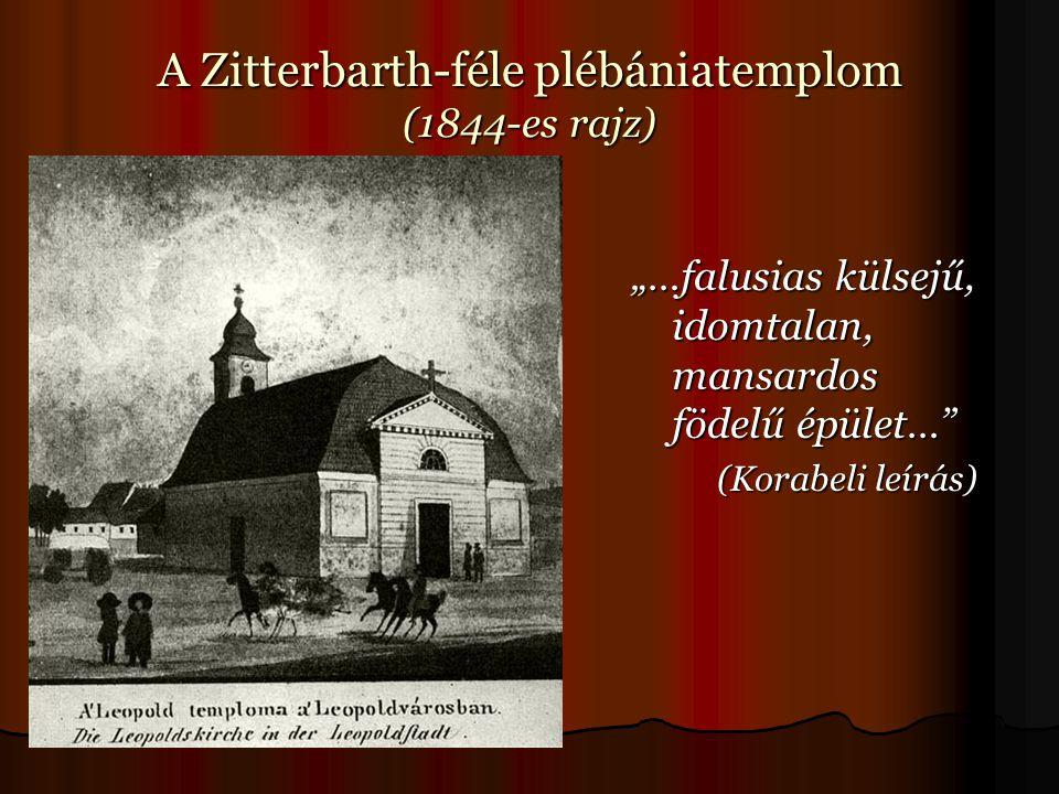 A Zitterbarth-féle plébániatemplom (1844-es rajz)