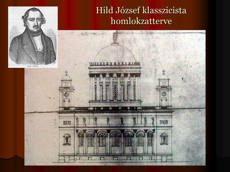Hild József klasszicista homlokzatterve