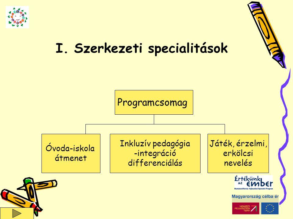 I. Szerkezeti specialitások