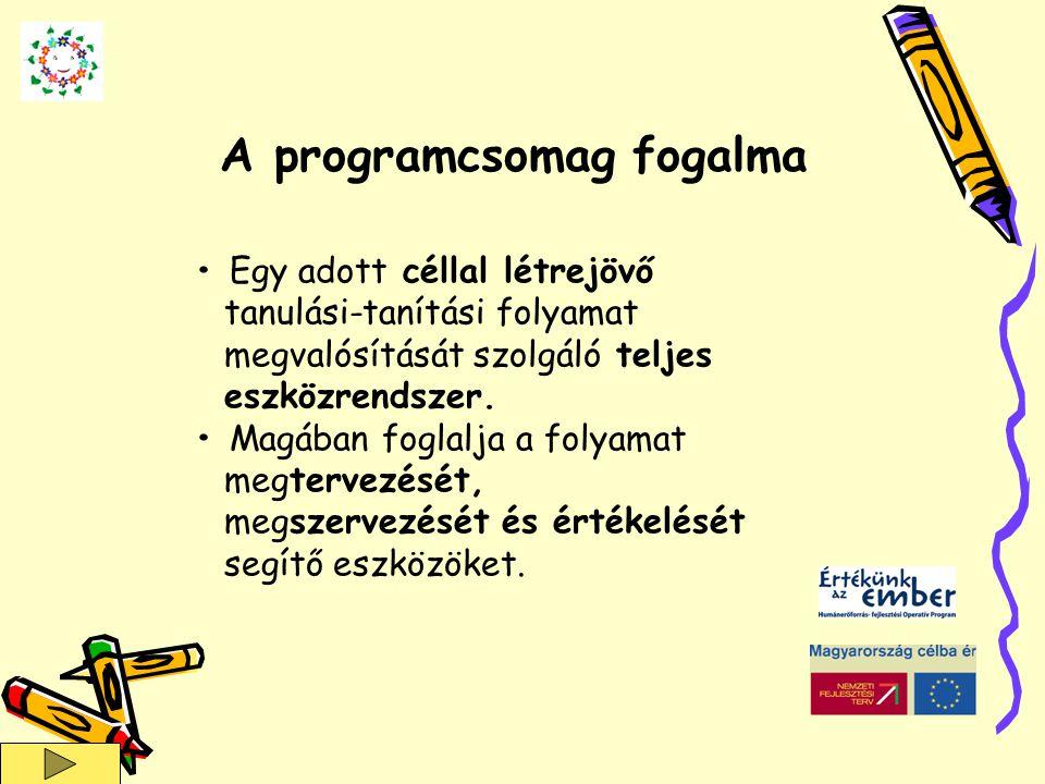 A programcsomag fogalma