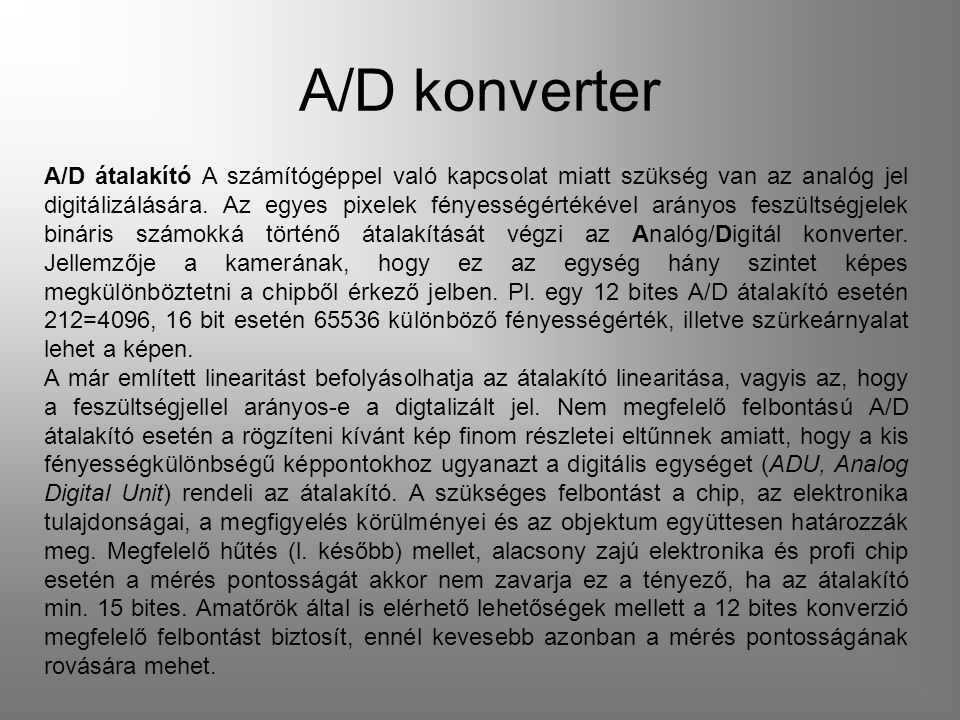 A/D konverter