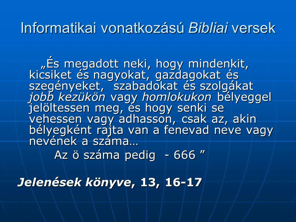 Informatikai vonatkozású Bibliai versek