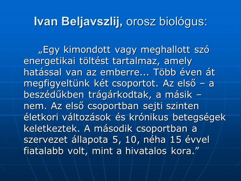 Ivan Beljavszlij, orosz biológus: