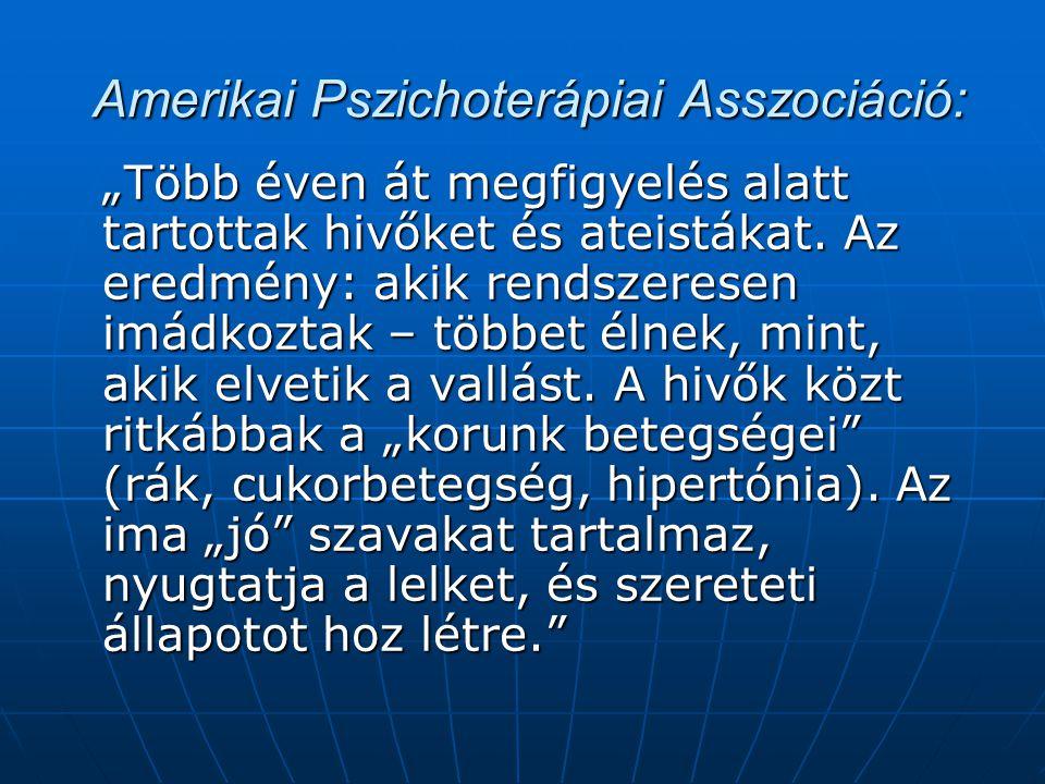 Amerikai Pszichoterápiai Asszociáció: