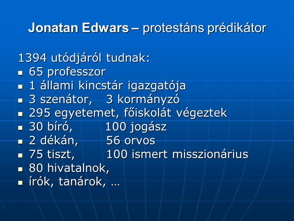 Jonatan Edwars – protestáns prédikátor