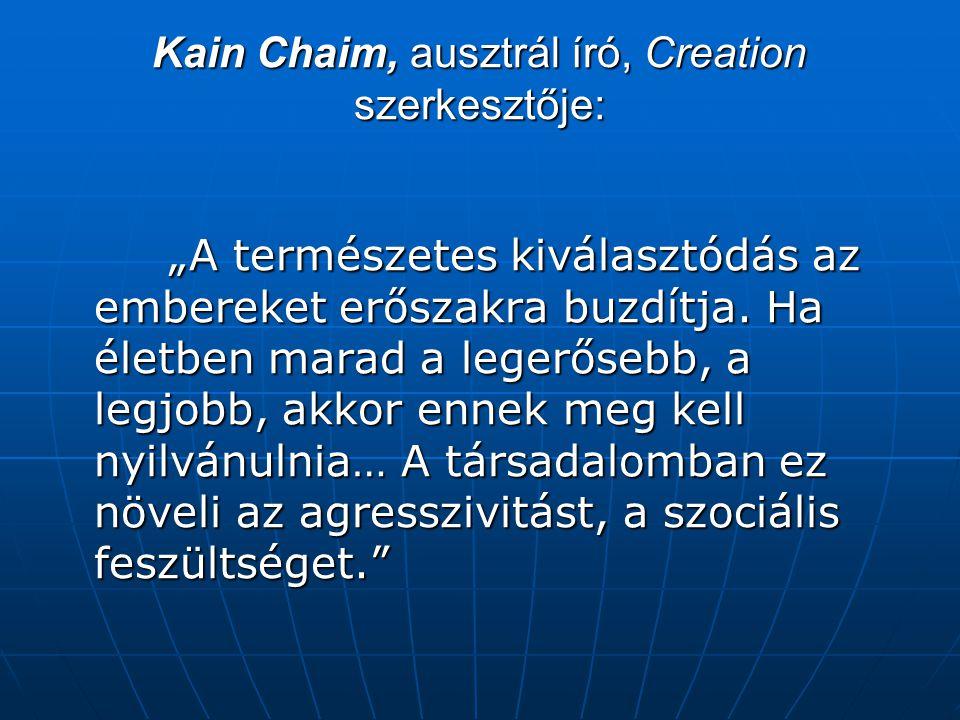 Kain Chaim, ausztrál író, Creation szerkesztője: