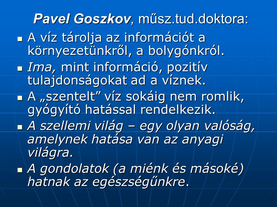 Pavel Goszkov, műsz.tud.doktora: