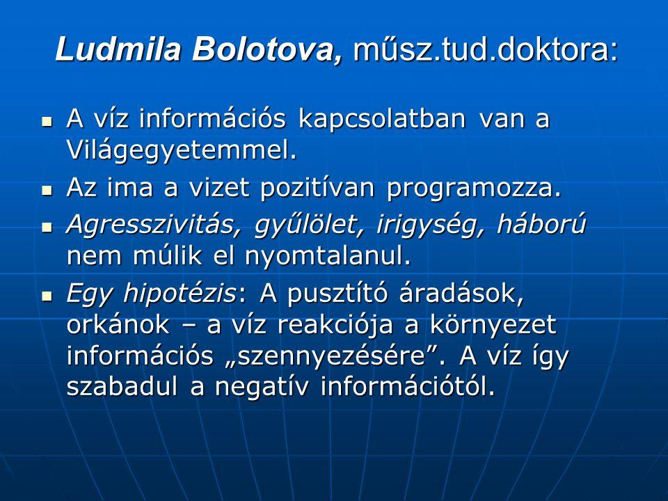 Ludmila Bolotova, műsz.tud.doktora: