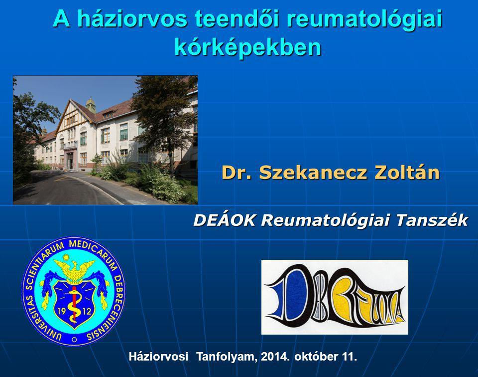 A háziorvos teendői reumatológiai kórképekben