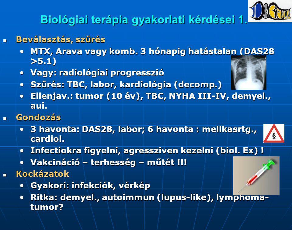 Biológiai terápia gyakorlati kérdései 1.
