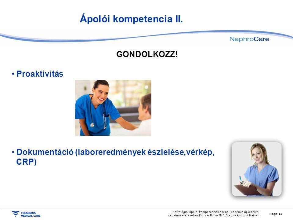 Ápolói kompetencia II. GONDOLKOZZ! Proaktivitás