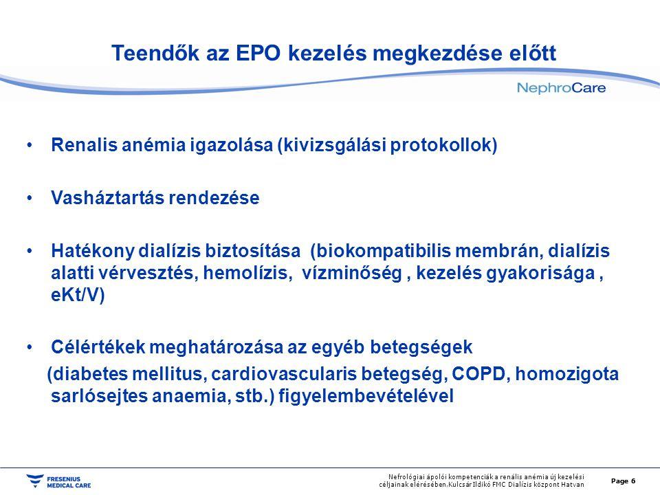 Teendők az EPO kezelés megkezdése előtt