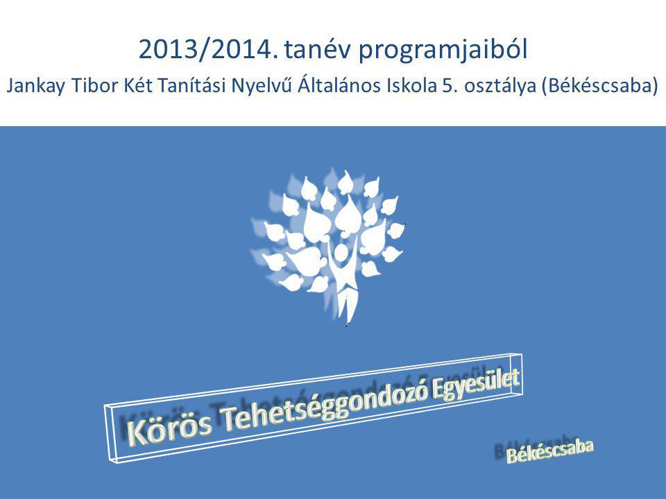 2013/2014. tanév programjaiból Jankay Tibor Két Tanítási Nyelvű Általános Iskola 5.