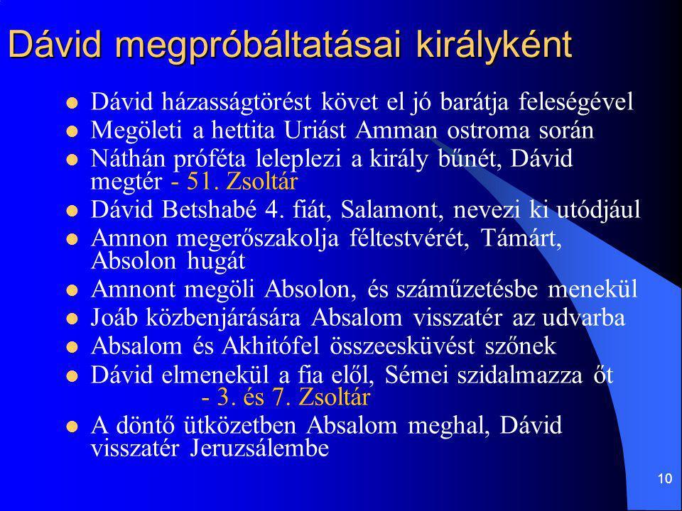 Dávid megpróbáltatásai királyként